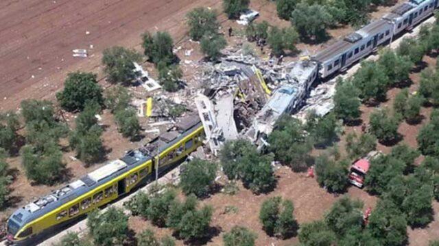scontro treni puglia az magazine